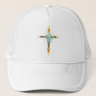 Rainbow Fish-Cross_2 Hat