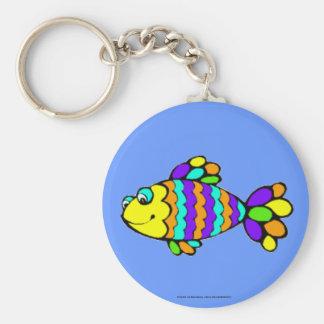 Rainbow Fish Keychain