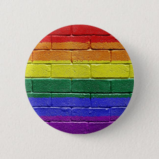 Rainbow flag 2 inch round button