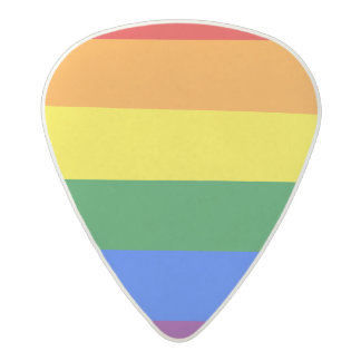 Rainbow Flag Acetal Guitar Pick