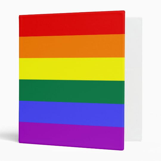 Rainbow Flag Avery Binder