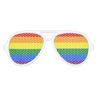 Rainbow Flag Aviator Sunglasses