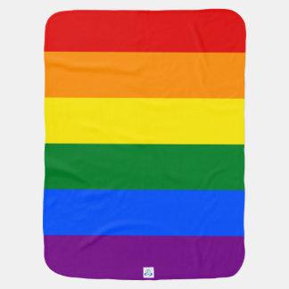 Rainbow Flag Baby Blanket