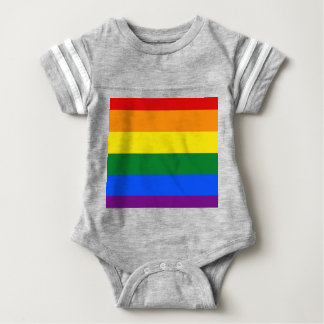 Rainbow Flag Baby Bodysuit