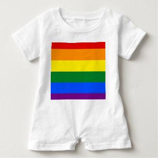 Rainbow Flag Baby Romper