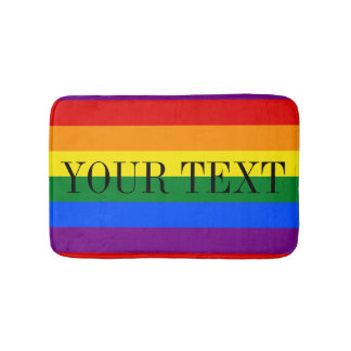 Rainbow flag bath mat | Colored bathroom rug