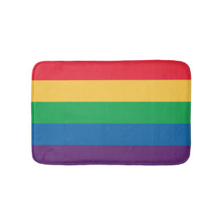 Rainbow Flag Bathroom Mat