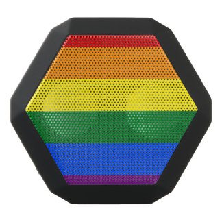 Rainbow Flag Black Bluetooth Speaker