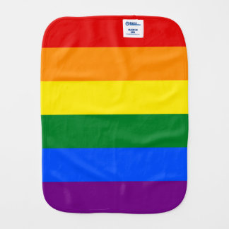 Rainbow Flag Burp Cloth