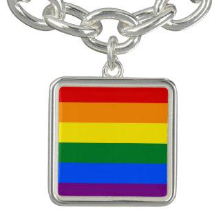 Rainbow Flag Charm Bracelet
