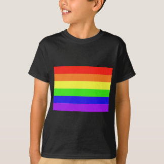 Rainbow Flag Children's Black T-Shirt