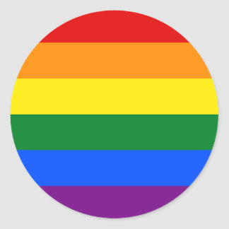 Rainbow Flag Classic Round Sticker