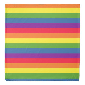 Rainbow Flag Colorful Gay Pride Duvet Cover