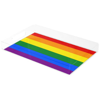 RAINBOW FLAG COLORS + your ideas Acrylic Tray