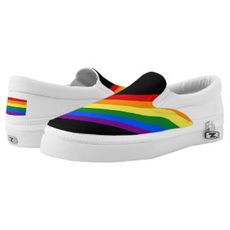 RAINBOW FLAG COLORS + your ideas Slip-On Sneakers