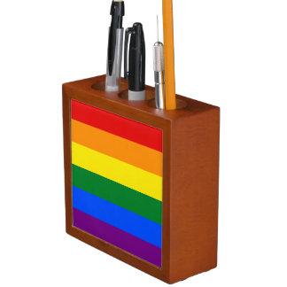 Rainbow Flag Desk Organizer