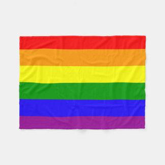 Rainbow flag fleece blanket