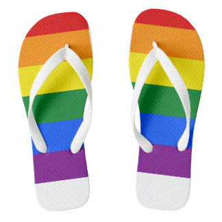 Rainbow Flag Flip Flops