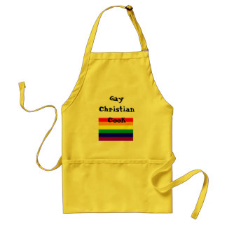 rainbow flag, Gay Christian Cook Standard Apron