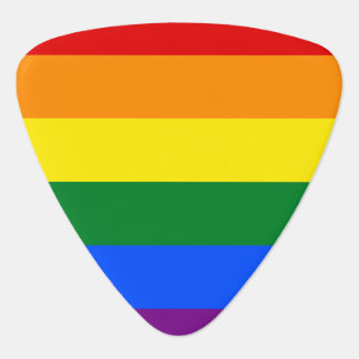 Rainbow Flag Guitar Pick
