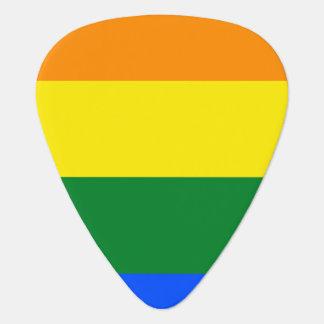 Rainbow Flag Guitar Pick