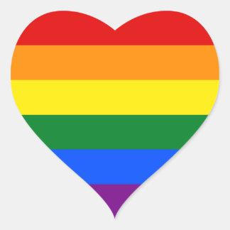 Rainbow Flag Heart Sticker