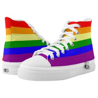 Rainbow flag high tops
