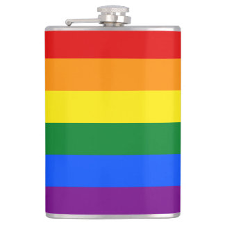 Rainbow Flag Hip Flask