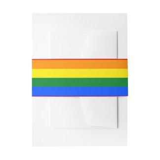 Rainbow Flag Invitation Belly Band