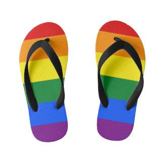 Rainbow Flag Kid's Flip Flops