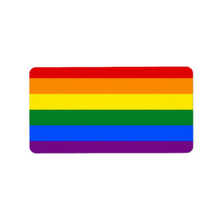 Rainbow Flag Label