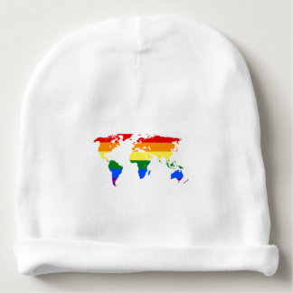 Rainbow Flag Map Baby Cotton Beanie Baby Beanie