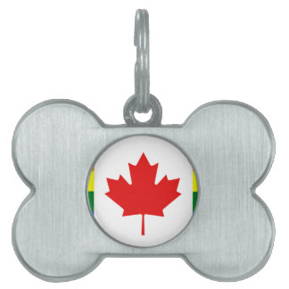 Rainbow Flag of Canada Pet ID Tag