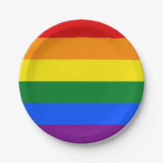 Rainbow Flag Paper Plate