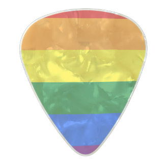 Rainbow Flag Pearl Celluloid Guitar Pick