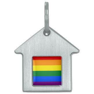 Rainbow Flag Pet ID Tag