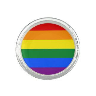 Rainbow Flag Photo Rings