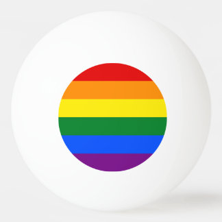 Rainbow Flag Ping Pong Ball