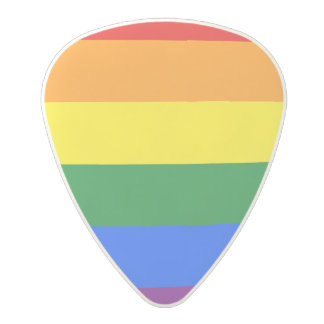Rainbow Flag Polycarbonate Guitar Pick