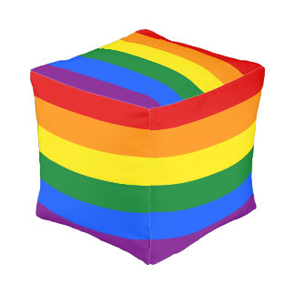 Rainbow Flag Pouf