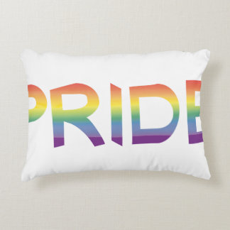 Rainbow Flag Pride Accent Pillow