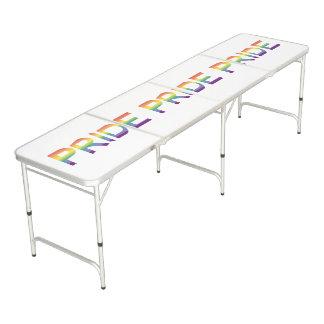 Rainbow Flag Pride Beer Pong Table
