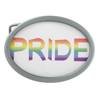 Rainbow Flag Pride Belt Buckle