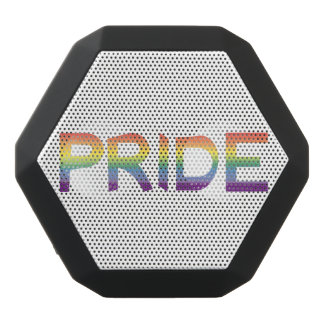 Rainbow Flag Pride Black Bluetooth Speaker