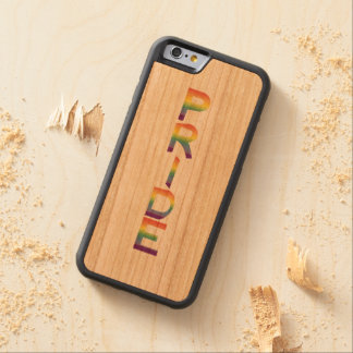 Rainbow Flag Pride Carved Cherry iPhone 6 Bumper Case