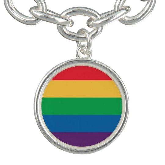 Rainbow Flag Pride Charm Bracelet