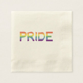 Rainbow Flag Pride Disposable Napkins