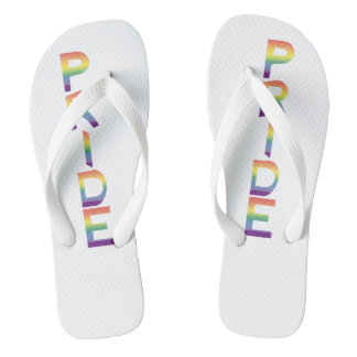Rainbow Flag Pride Flip Flops