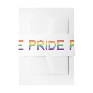 Rainbow Flag Pride Invitation Belly Band
