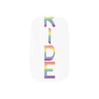 Rainbow Flag Pride Minx Nail Art